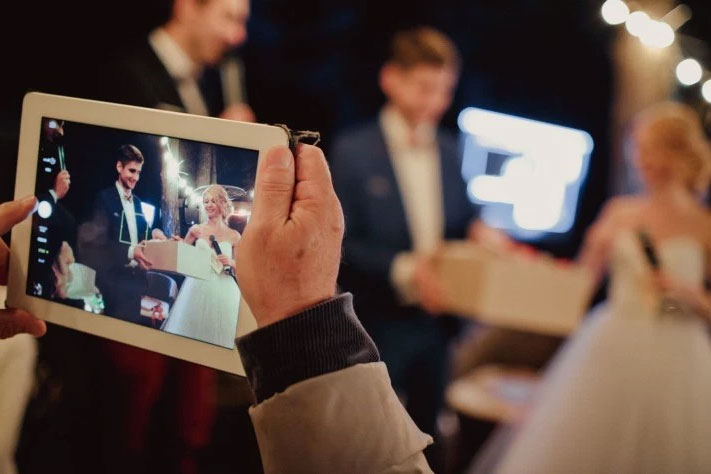 Wedding and modern technology